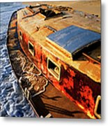 Port Side Down Captain - Outer Banks Metal Print