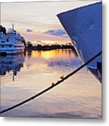 Port Sunrise Metal Print
