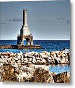 Port Washington Breakwater Light Metal Print
