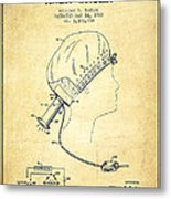 Portable Hair Dryer Patent From 1968 - Vintage Metal Print