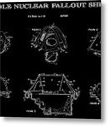 Portable Nuclear Fallout Shelters 2 Patent Art 1986 Metal Print