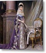 Portait Of Empress Maria  Fyodorovna Metal Print