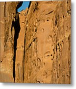 Portal Through Stone Metal Print