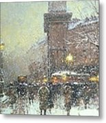 Porte St Martin In Paris Metal Print