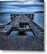 Portencross Pier  Metal Print