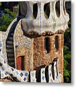 Porter's Lodge Pavilion In Park Guell Metal Print