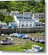 Porthleven Harbor - Low Tide Metal Print