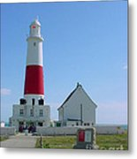 Portland Bill Lighthouse Metal Print