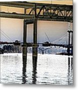 Portland Bridges Metal Print
