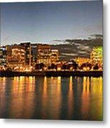 Portland Downtown Skyline Night Panorama Metal Print