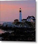 Portland Head Lighthouse At Daybreak Metal Print