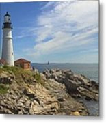 Portland Head Lighthouse Panoramic Metal Print