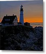 Portland Head Lighthouse Sunrise 2 Metal Print