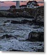 Portland Head Lighthouse Sunset Metal Print
