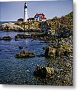 Portland Headlight 37 Oil Metal Print