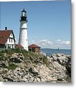 Portland Headlight Lighthouse 1 Metal Print