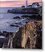Portland Headlight Maine Metal Print