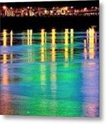 Portland Lights 22971 F Metal Print