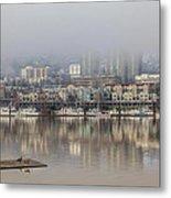 Portland Oregon Foggy Morning Metal Print