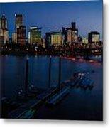 Portland Skyline 2 Metal Print