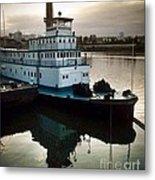 Portland Steam Sternwheeler  Tugboat Metal Print