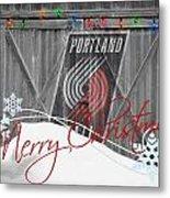 Portland Trailblazers Metal Print by Joe Hamilton