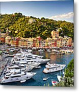 Portofino Summer Afternoon Metal Print by George Oze