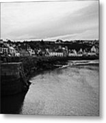 Portpatrick Village And Breakwater Scotland Uk Metal Print