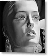 Portrait In Black And White Metal Print