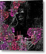 Portrait In Black - S01-02b Metal Print by Variance Collections
