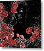 Portrait In Black - S0201b Metal Print by Variance Collections