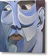 Portrait In Blue Metal Print