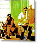 Portrait Of 2 Locke Artists Metal Print
