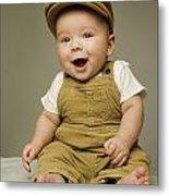 Portrait Of A Baby Boy Metal Print