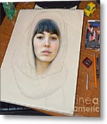 Portrait Of A Beauty Coming Alive Metal Print by Jim Fitzpatrick