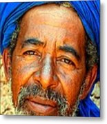 Portrait Of A Berber Man  Metal Print