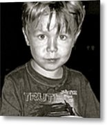 Portrait Of A Boy Metal Print