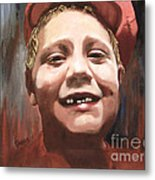 Portrait Of A Con Artist Metal Print by Sharon Burger