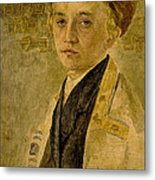 Portrait Of A Jewish Boy  Metal Print