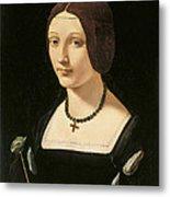 Portrait Of A Lady As Saint Lucy Metal Print