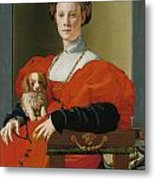 Portrait Of A Lady With A Lapdog Metal Print