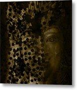 Portrait Of A Leopardess  Metal Print