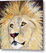 Portrait Of A Lion Metal Print