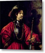 Portrait Of A Man In Military Costume Metal Print