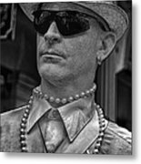 Portrait Of A Mime In Jackson Square Metal Print