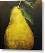 Portrait Of A Pear Metal Print
