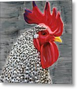 Portrait Of A Rooster Metal Print