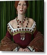 Portrait Of A Tudor Lady Metal Print