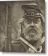 Portrait Of A Union Soldier Metal Print by Pat Abbott