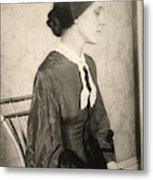 Portrait Of A Woman, C1895 Metal Print